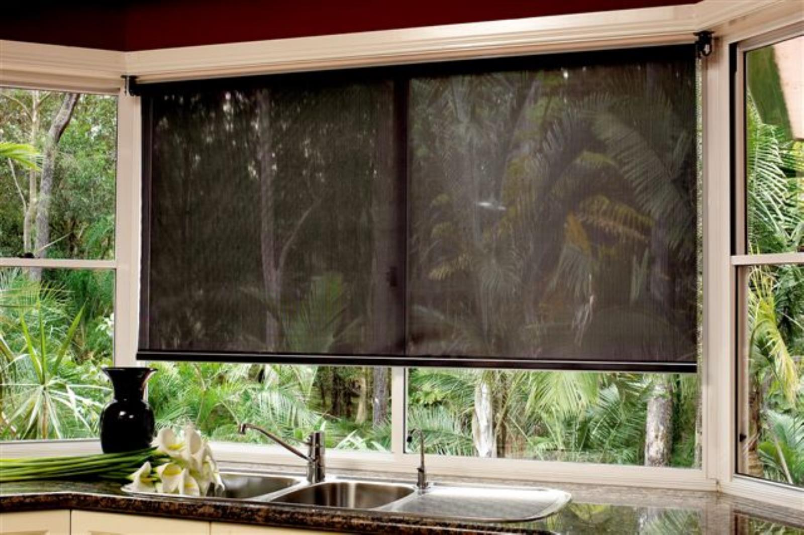 solar rolled screens partial sun ers motorized away shading jose retractable ca blinds blocking san